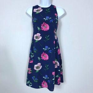 Old Navy | Blue Pink Floral A Line Dress Medium